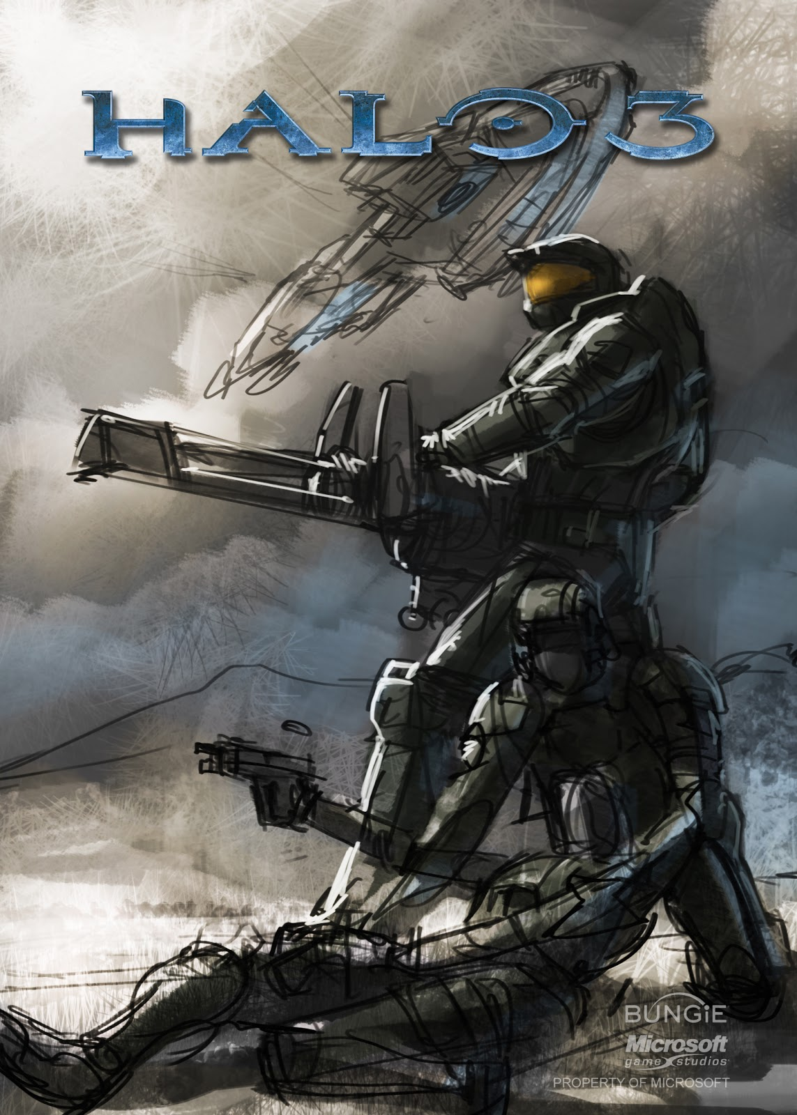 Halo Manual Cover - Concept Art : Bungie : Free Download ...