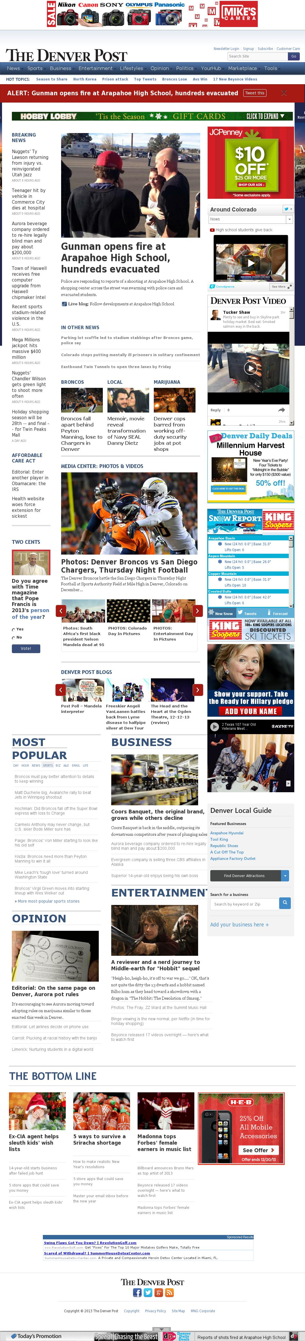 Denver Post at Friday Dec. 13, 2013, 9:03 p.m. UTC