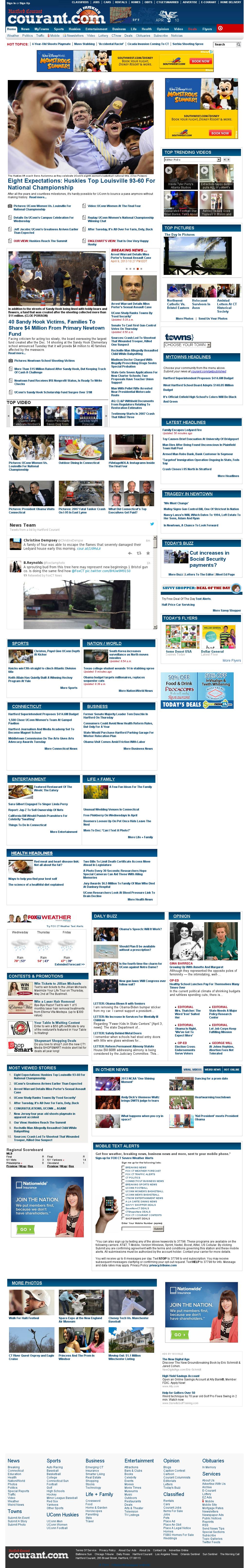 Hartford Courant at Wednesday April 10, 2013, 12:10 p.m. UTC