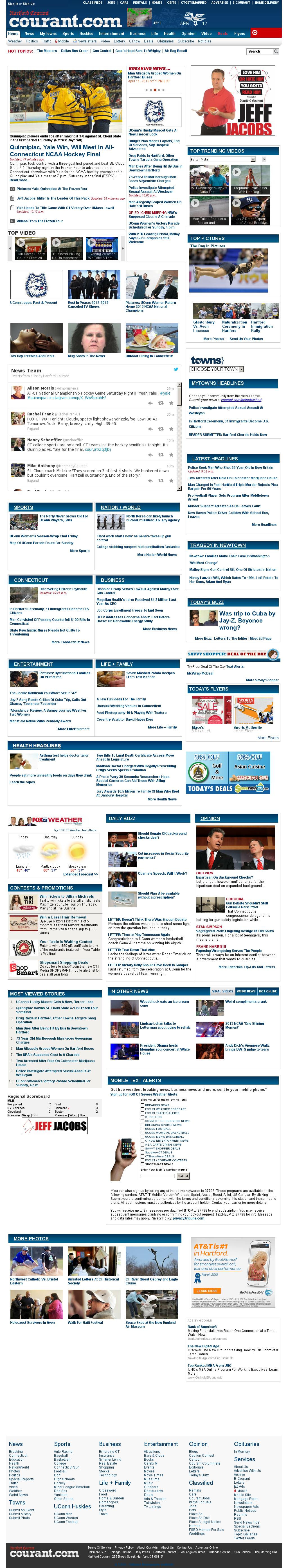 Hartford Courant at Friday April 12, 2013, 4:12 a.m. UTC