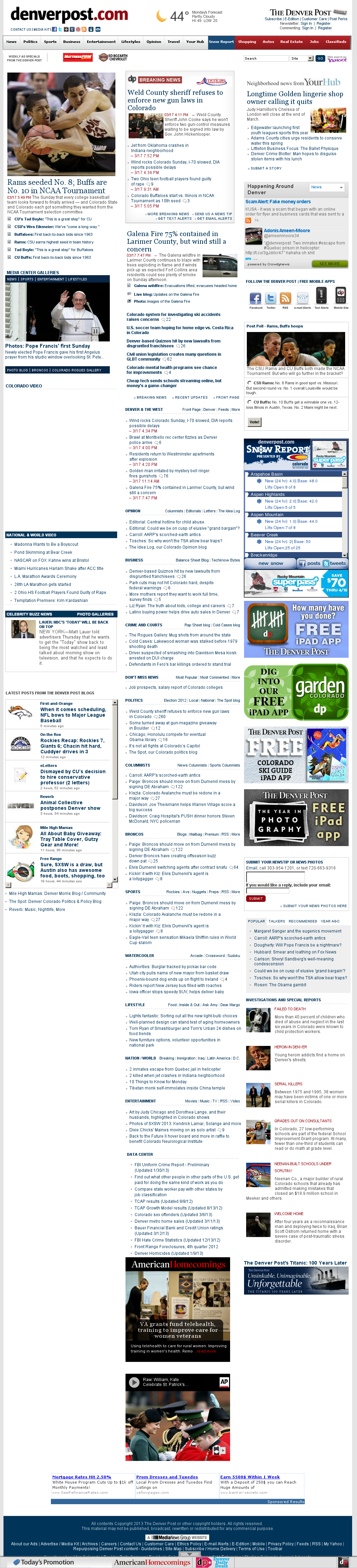Denver Post at Monday March 18, 2013, 2:06 a.m. UTC