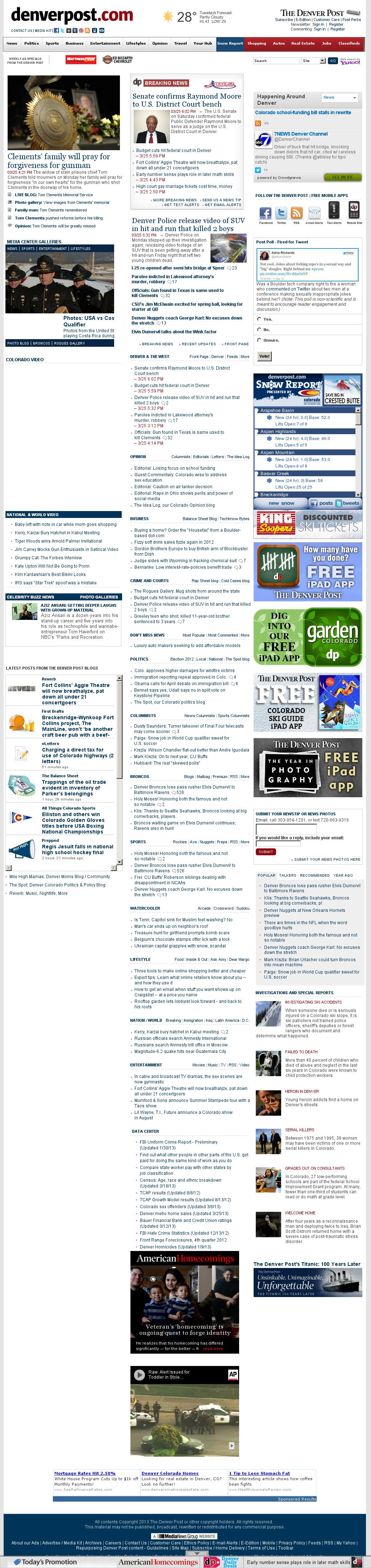 Denver Post at Tuesday March 26, 2013, 12:09 a.m. UTC