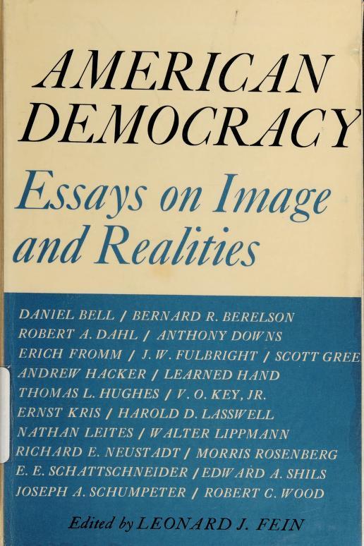 American democracy by Leonard J. Fein