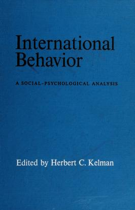 Cover of: International behavior | Herbert C. Kelman