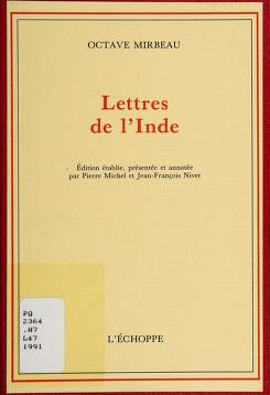 Cover of: Lettres de l'Inde   Octave Mirbeau