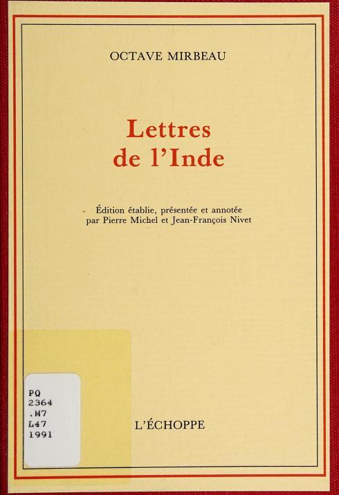 Lettres de l'Inde by Octave Mirbeau