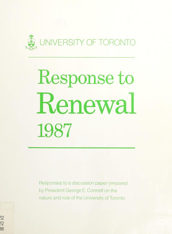 Response to Renewal 1987 by
