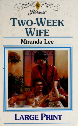 Cover of: Two-Week Wife by Miranda Lee
